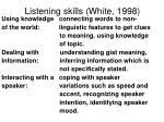 listening skills white 19981