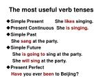 the most useful verb tenses