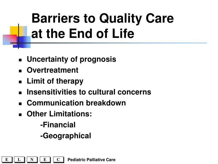 Barriers to Quality Care