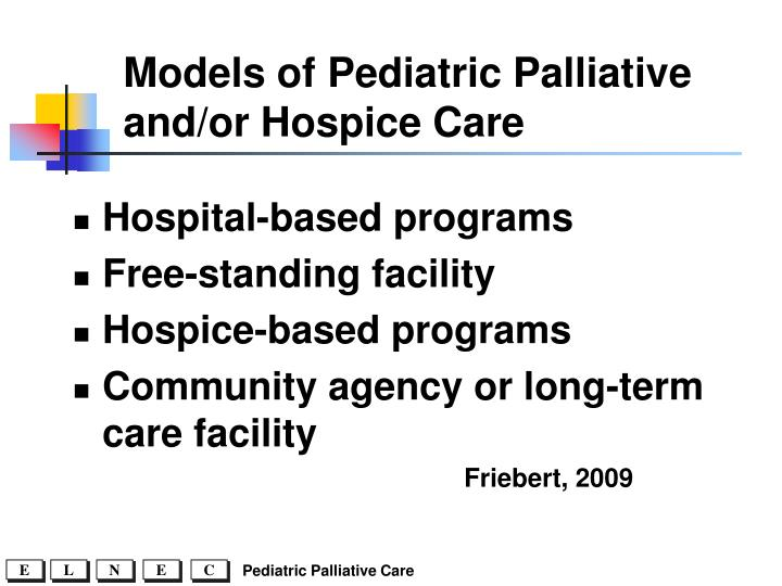 Models of Pediatric Palliative and/or Hospice Care