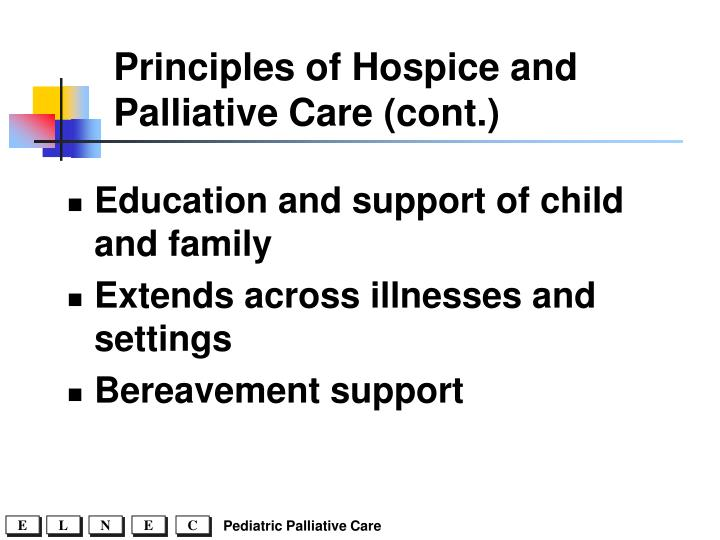 Principles of Hospice and Palliative Care (cont.)