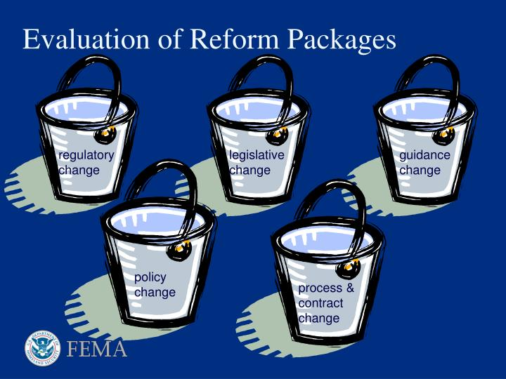 Evaluation of Reform Packages
