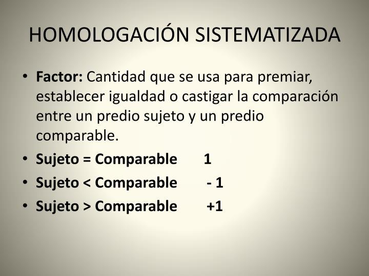 Homologaci n sistematizada2