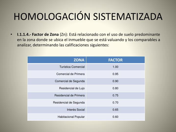 HOMOLOGACIÓN SISTEMATIZADA