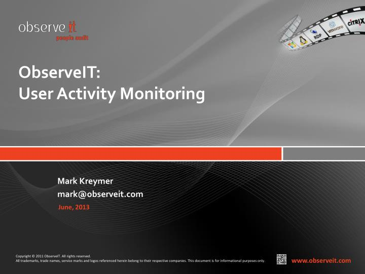 observeit user activity monitoring n.
