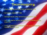 decommissioning