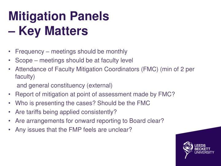 Mitigation Panels