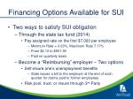 financing options available for sui