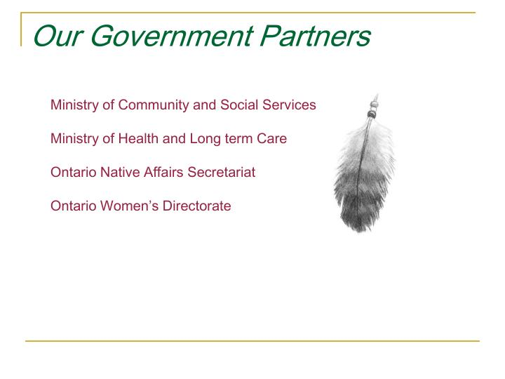 Our Government Partners