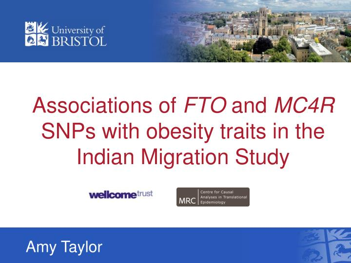 associations of fto and mc4r snps with obesity traits in the indian migration study n.