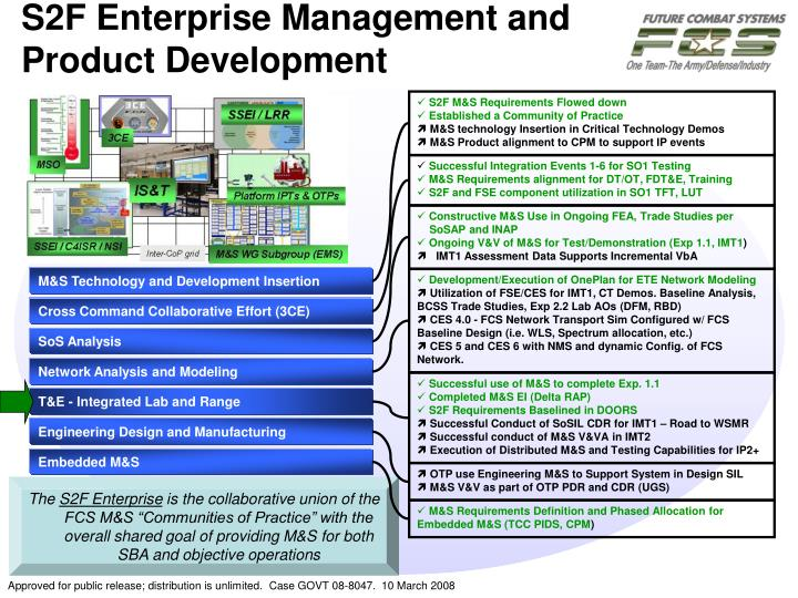 S2F Enterprise Management and