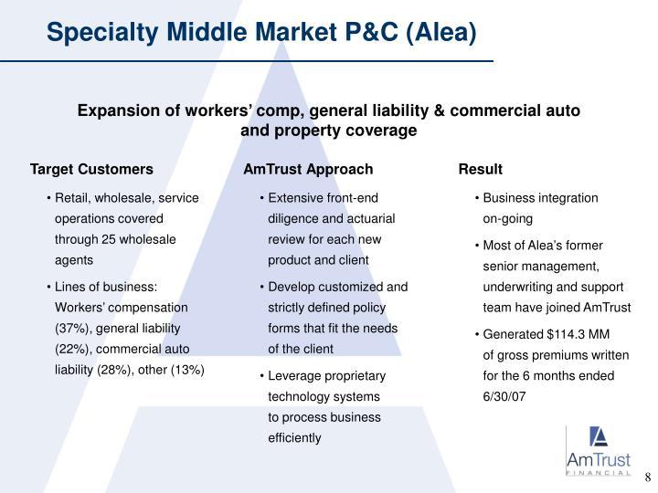 Specialty Middle Market P&C (Alea)