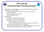 nws and the national public warning dynamic
