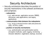 security architecture1