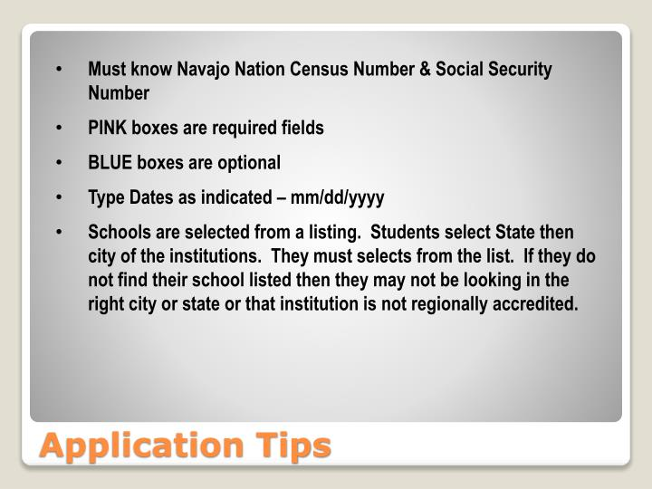 Must know Navajo Nation Census Number & Social Security Number