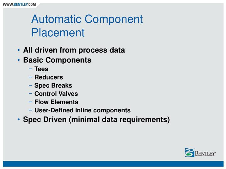 Automatic Component Placement
