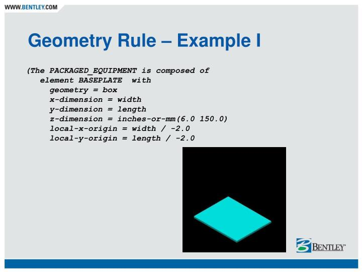 Geometry Rule – Example I