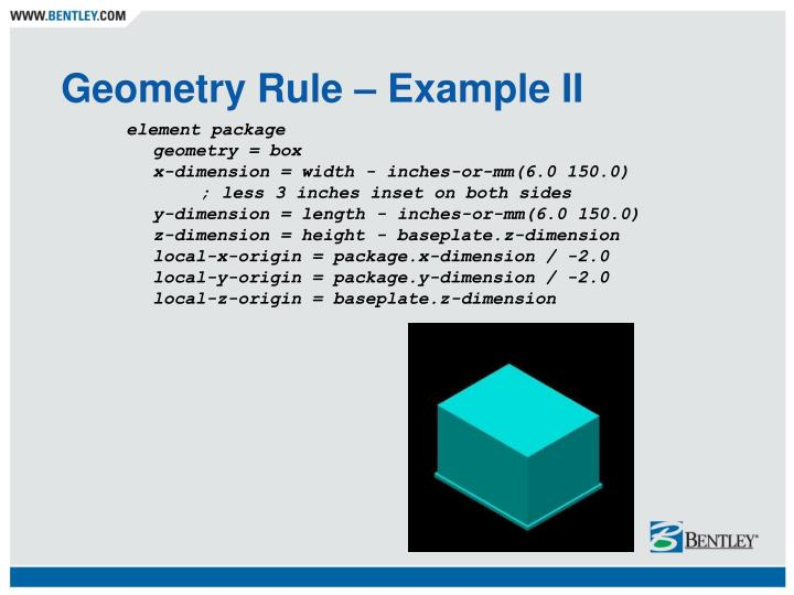 Geometry Rule – Example II