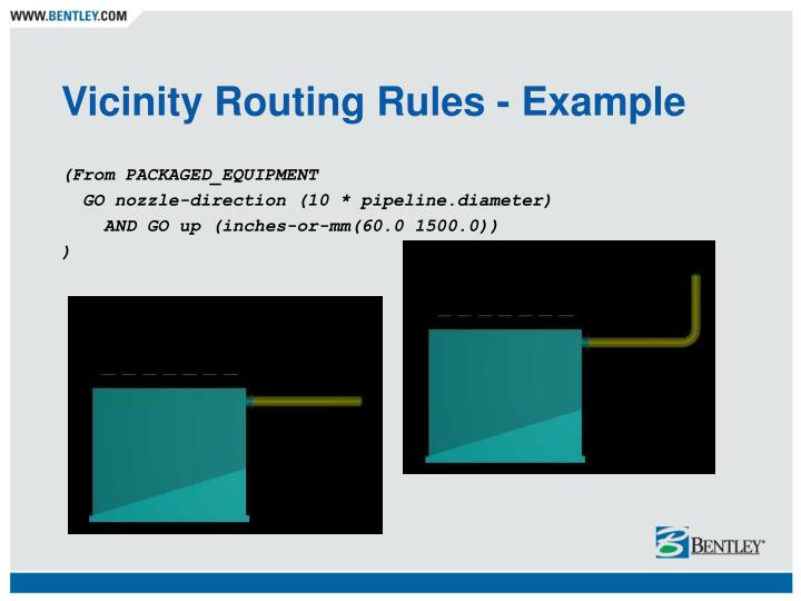 Vicinity Routing Rules - Example