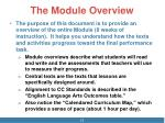 the module overview