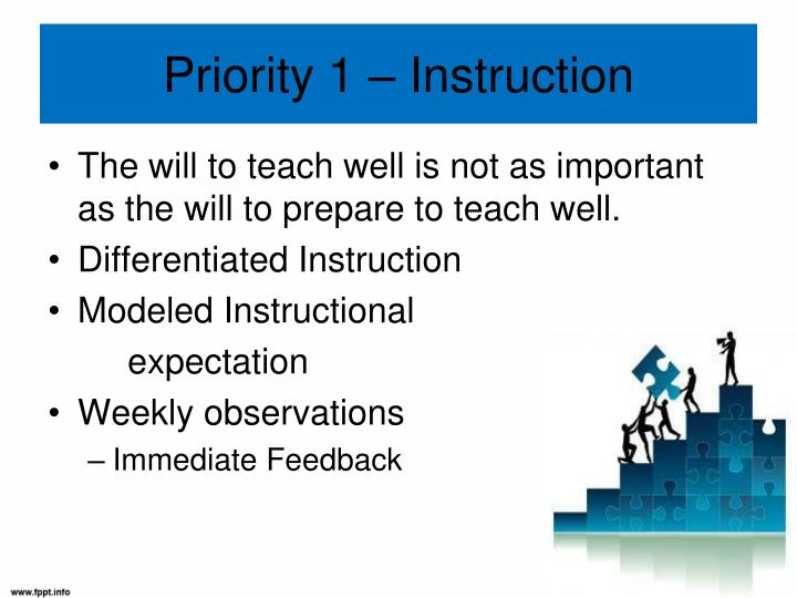 Priority 1 – Instruction