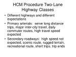 hcm procedure two lane highway classes