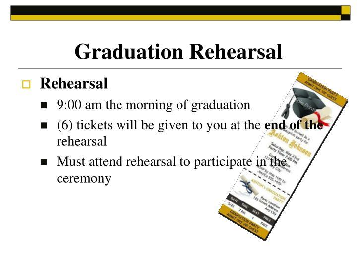 Graduation Rehearsal