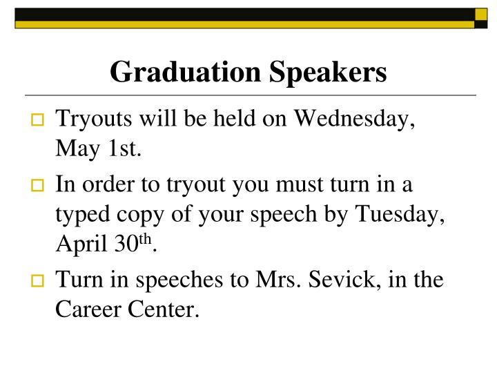 Graduation Speakers