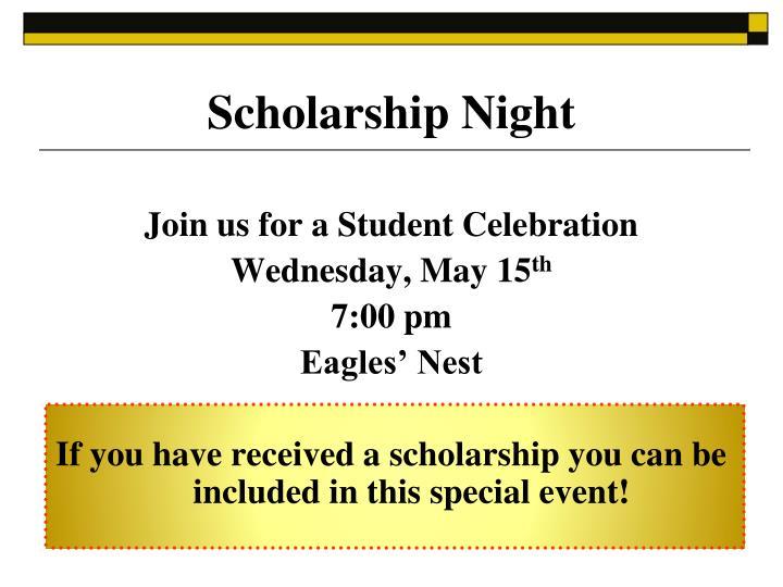 Scholarship Night