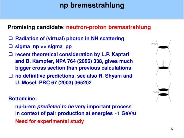 np bremsstrahlung