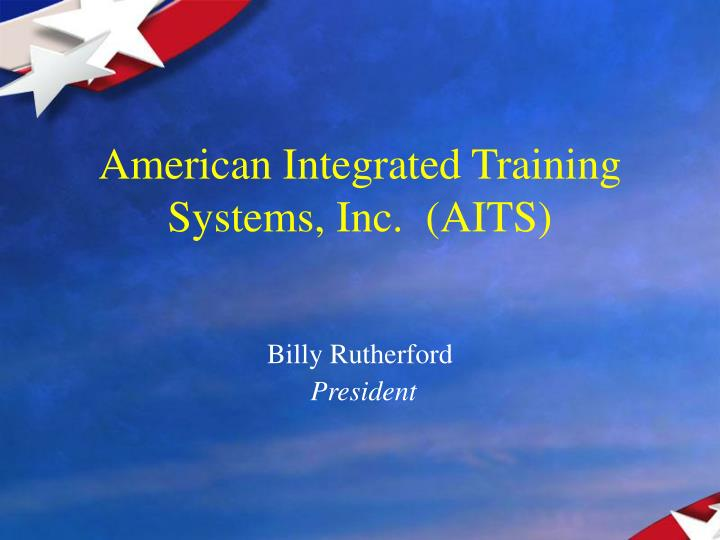 American integrated training systems inc aits