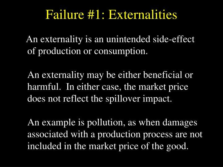 Failure #1: Externalities