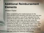 additional reimbursement elements