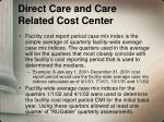 direct care and care related cost center2