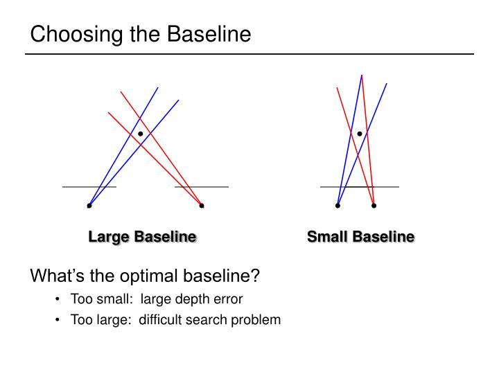 Choosing the Baseline