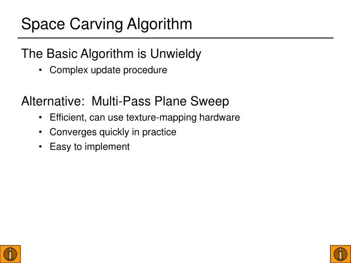 Space Carving Algorithm