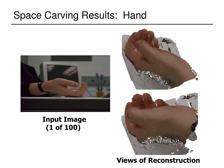 Space Carving Results:  Hand