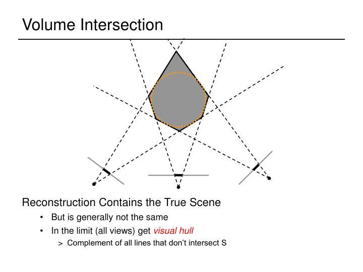Volume Intersection