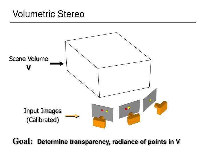 Volumetric Stereo