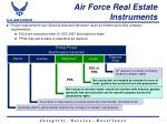 air force real estate instruments