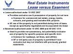 real estate instruments lease versus easement