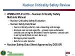 nuclear criticality safety review