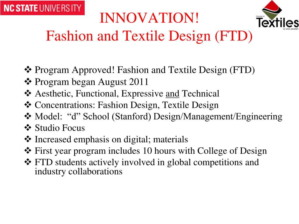 Ppt North Carolina State University College Of Textiles Powerpoint Presentation Id 6740508