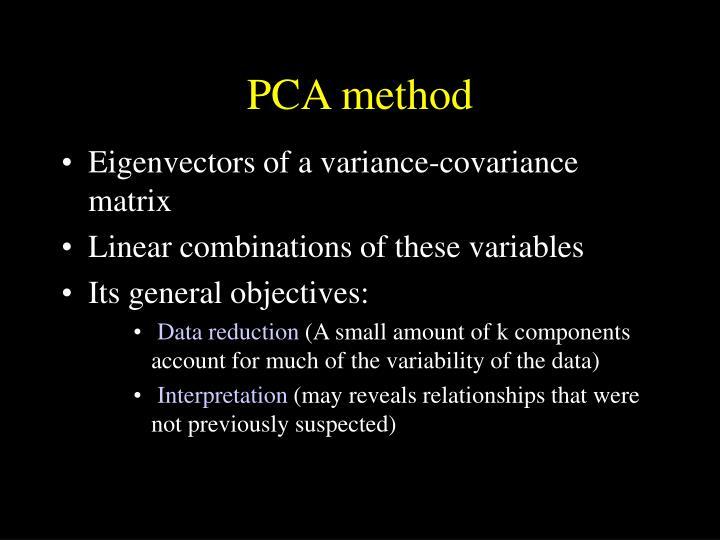 PCA method