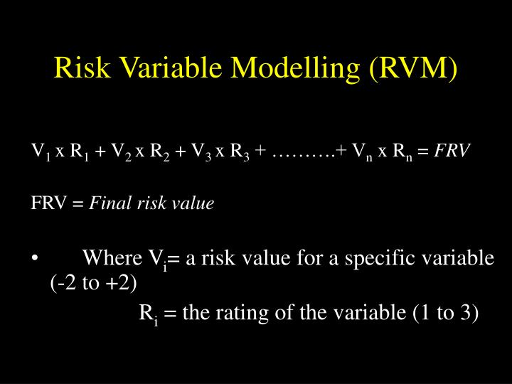 Risk Variable Modelling (RVM)