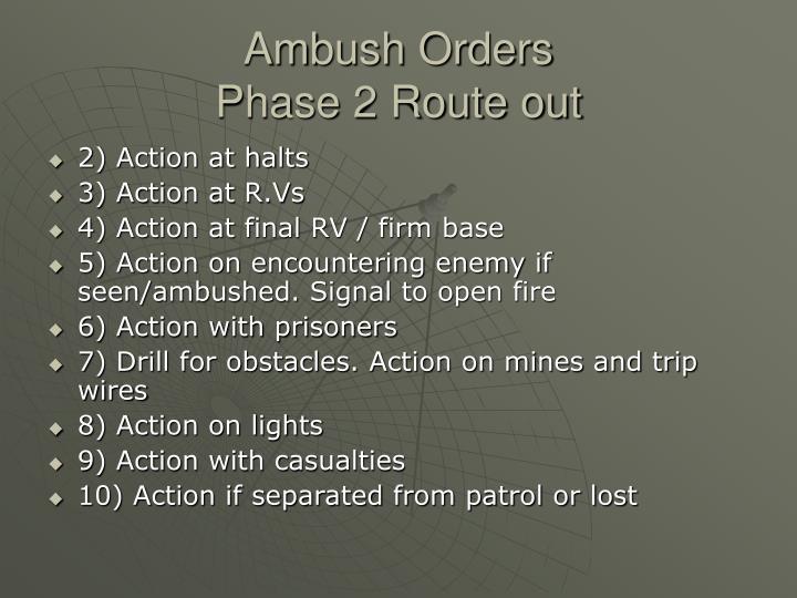 Ambush Orders