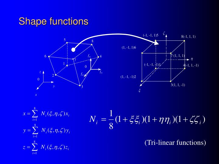 Shape functions