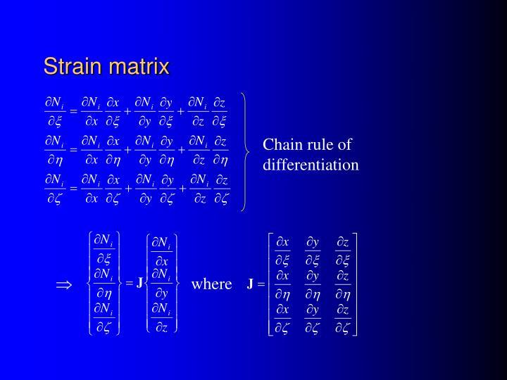 Strain matrix