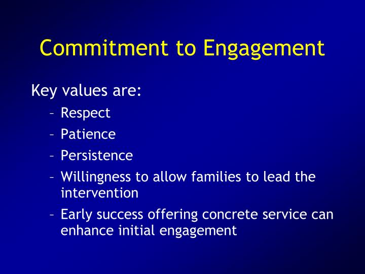 Commitment to Engagement