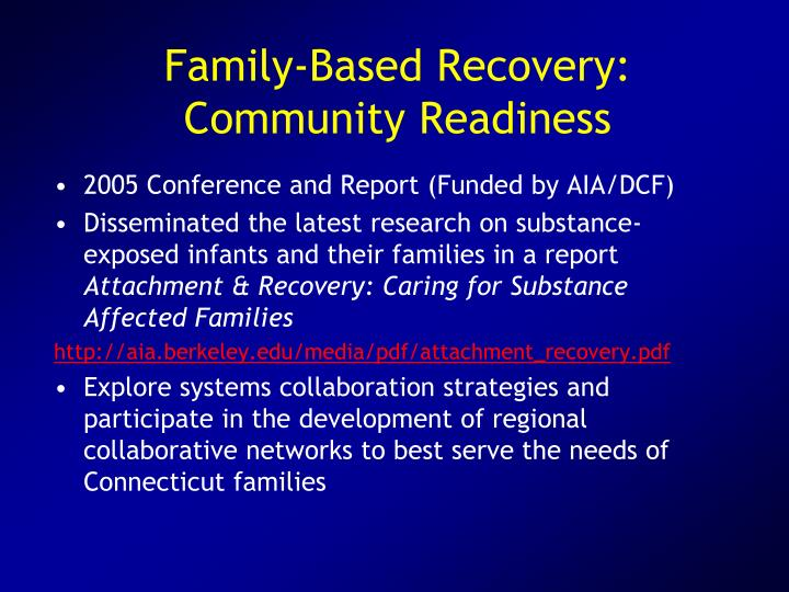 Family-Based Recovery:
